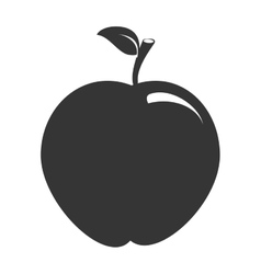 Apple fruit theme design icon vector image