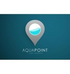 Aqua logo design aqua point water logo design vector