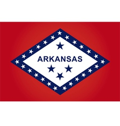 Arkansas flag vector