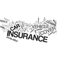 Auto insurance which type is right for you text vector