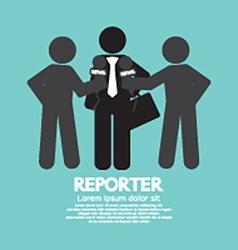 Black Symbol Reporter vector image