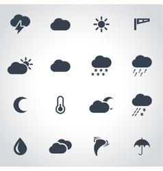 black weather icon set vector image vector image