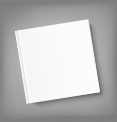 blank square cover book template on grey vector image vector image