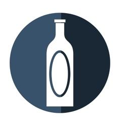 bottle wine cap blank label shadow vector image