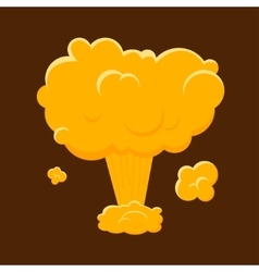 Cartoon Nuclear Bomb Explosion vector image