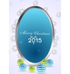 Christmas abstract background with silver frame vector image