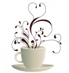 coffee art vector image