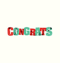 Congrats concept stamped word art vector
