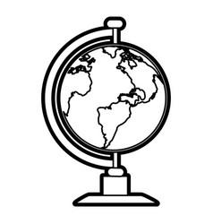 Earth globe icon image vector