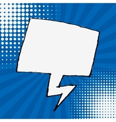 Empty speech bubble on sunburst background design vector