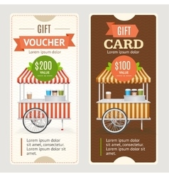 Gift voucher set vector