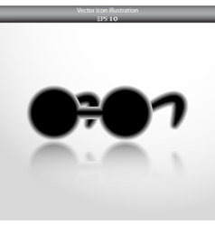 glasses web flat icon vector image vector image