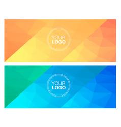 Horisontal polygonal banners vector