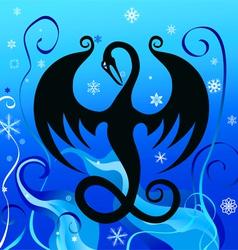 ice dragon vector image vector image