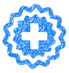 Medical cross stamp grunge icon vector