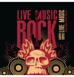 rock music vector image vector image