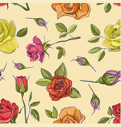 Rose set pattern vector