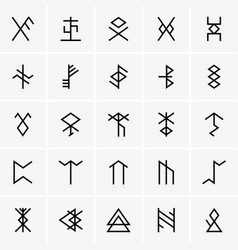 rune icons vector image vector image