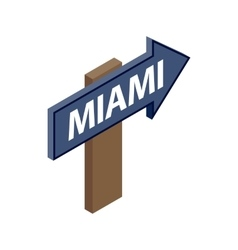 Sign arrow Miami icon isometric 3d style vector image vector image