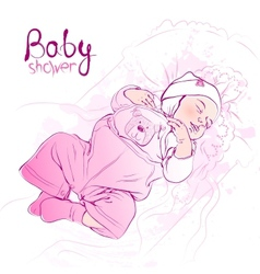 Sleeping baby vector