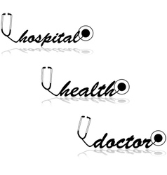 Stethoscope words vector