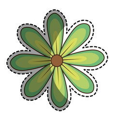 Sticker of daisy flower icon floral design vector