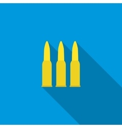 Three bullets icon flat style vector image