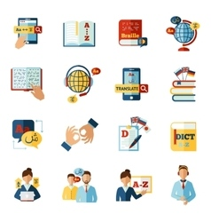 Translator Icons Set vector image