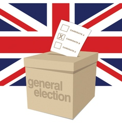 Uk ballot box vector