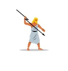 Zeus sign in greek mythology king of gods vector