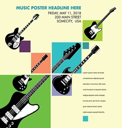 Unusual guitar art vector