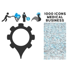 Gps settings icon with 1000 medical business vector