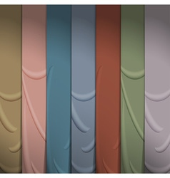 Background of silk ribbons vector