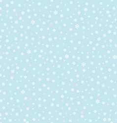 Falling snow background vector image