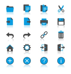 Application toolbar flat with reflection icons vector