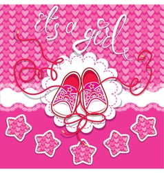 Holiday dard children gumshoes on pink background vector