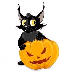 Black bat and halloween pumpkin vector
