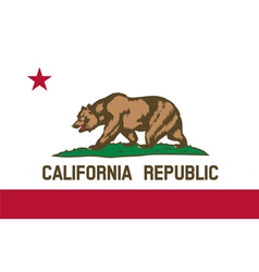 california republic flag vector image
