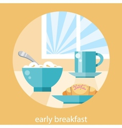 Breakfast time concept vector