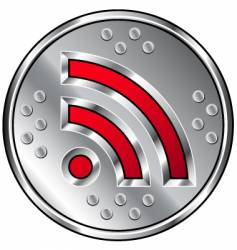 Industrial rss feed icon vector