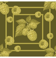 Seamless pattern with branches raspberry vector