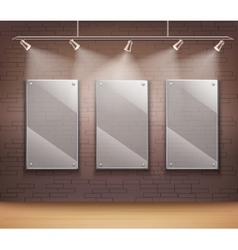 Glass gallery frames vector