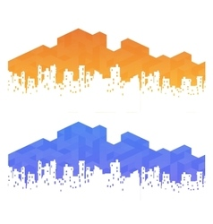 Urban landscape real estate vector