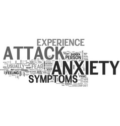 anxiety attack symptoms what you should know to vector image