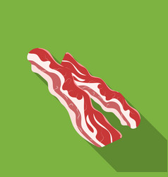 bacon icon in flat style isolated on white vector image