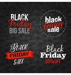 Black Friday lettering signs collection vector image vector image
