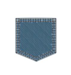 Blue denim pocket vector