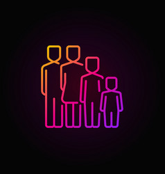 colorful family concept icon vector image