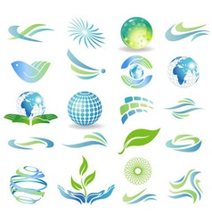 Eco desrign elements vector image