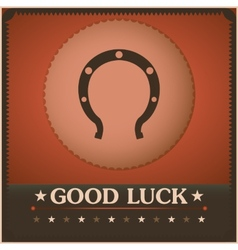 Good luck horseshoe vintage poster vector